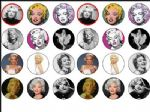 24 x Mixed Marilyn Monroe wafer rice Cake Tops toppers